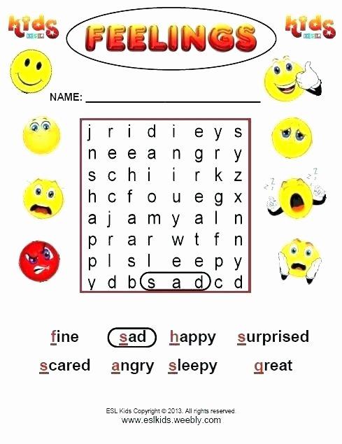Feelings Worksheets for Kindergarten Feelings thermometer Template for Kids – Copyofthebeautyfo