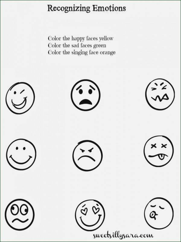 Feelings Worksheets for Kindergarten Feelings Worksheet