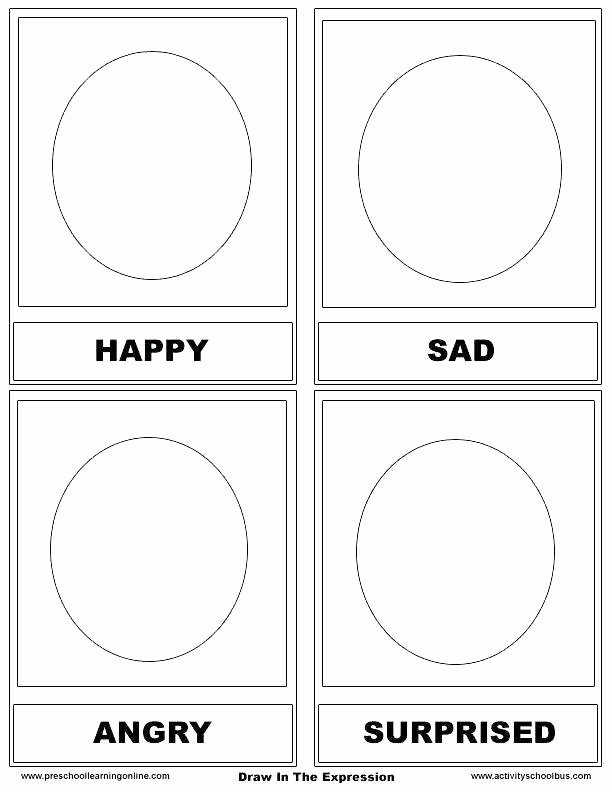 Feelings Worksheets for Preschoolers Free Feelings Worksheets for Kindergarten Emotions Kin