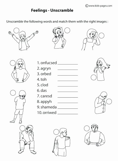 printable emotions worksheets for preschool christmas pre kindergarten