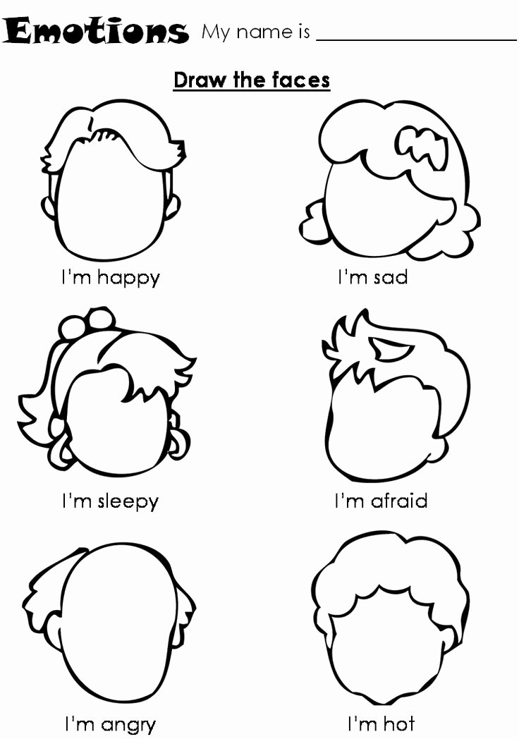Feelings Worksheets for Preschoolers Zack Doyle Zackdoyle5 On Pinterest