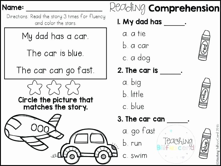 Fiction and Nonfiction Worksheets Pdf Kindergarten Reading Prehension Worksheets Free Kinder