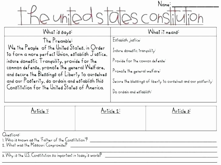 Field Day Worksheets Free Printable Constitution Worksheets
