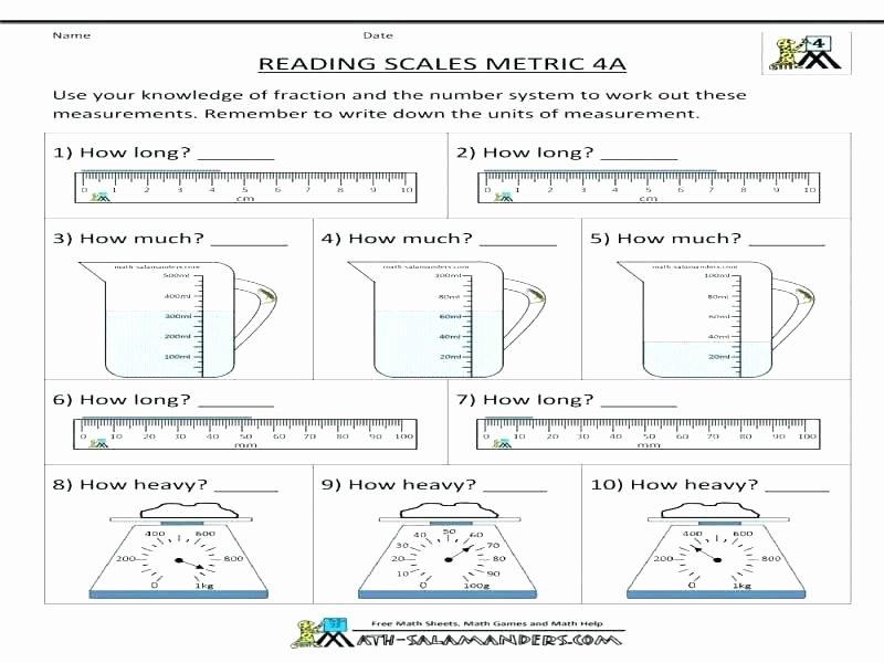 Fifth Grade Measurement Worksheets Measurement Worksheets Grade 2