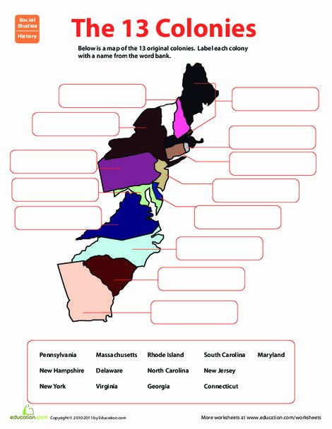 Fifth Grade social Studies Worksheets New Name Game the 13 original Colonies Teaching