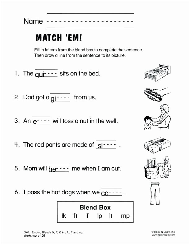 Final Blends Worksheets 30 Ending Blends Worksheet