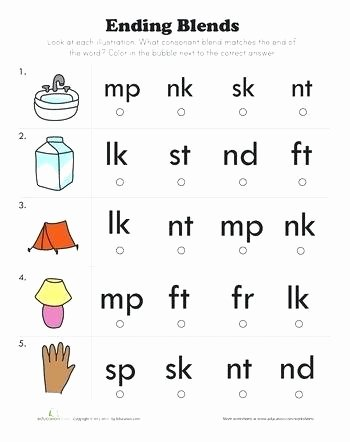 Final Blends Worksheets Consonant Blends List Worksheets Easy Prep Grade 2 Words