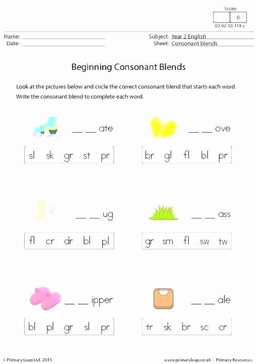 Final Consonant Deletion Worksheet Beginning Consonant sounds Worksheets