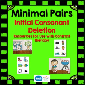 Final Consonant Deletion Worksheet Minimal Pairs Initial Consonant Deletion by Speech