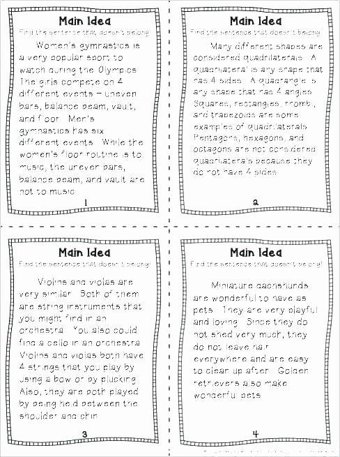 Finding the Main Idea Worksheet Black Beauty Worksheets