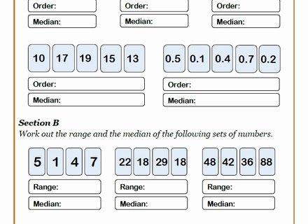 Finding the Mean Worksheets Mean Median Mode Range Worksheets Pdf – 7th Grade Math
