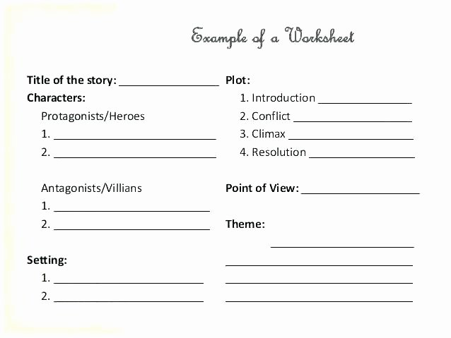 Finding theme Worksheets Inspirational Narrative Setting Analysis Worksheet Plot 3 Character