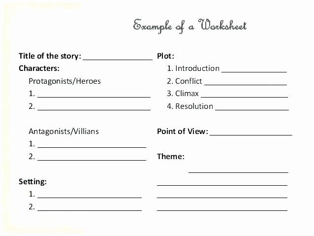 Finding theme Worksheets Inspirational Narrative Setting Analysis Worksheet Plot 3 Character