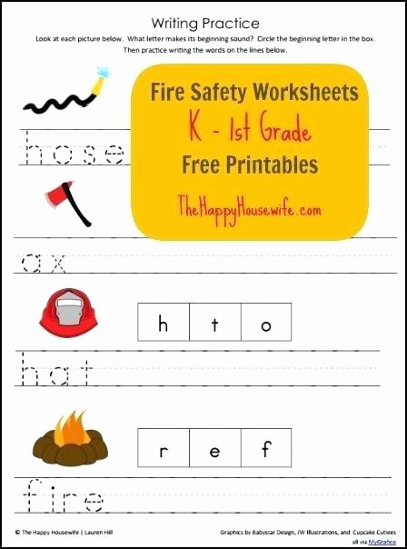 Fire Safety Worksheets Preschool Fire Drill Safety Worksheets 4 Page Set for K Graders