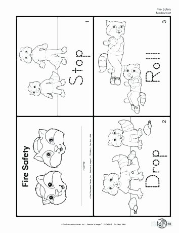 Fire Safety Worksheets Preschool Free Fire Safety Worksheets Lesson Plans the Mailbox for