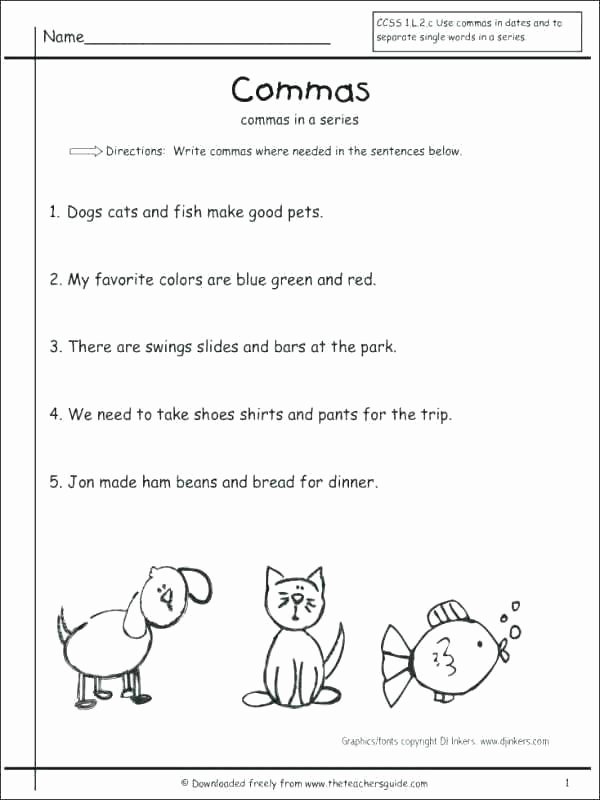 First Grade Capitalization Worksheets Awesome 1st Grade Grammar Worksheets First Adverbs Capitalization F