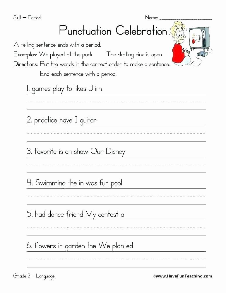 First Grade Capitalization Worksheets Fresh Free Punctuation Worksheets for Grade 3 Marks Capitalization