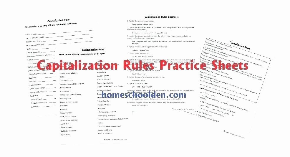 First Grade Capitalization Worksheets Unique Capitalization Practice Worksheets Calculator Practice