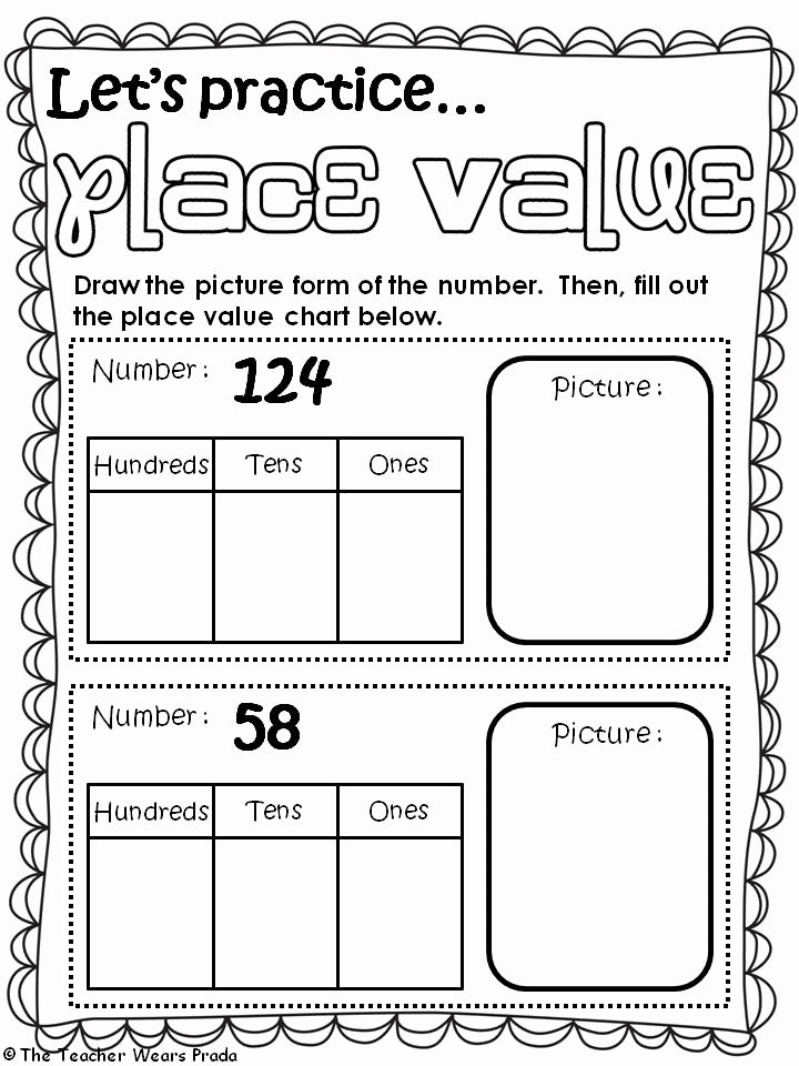 First Grade History Worksheets Place Value Worksheets for Kindergarten Beautiful Math