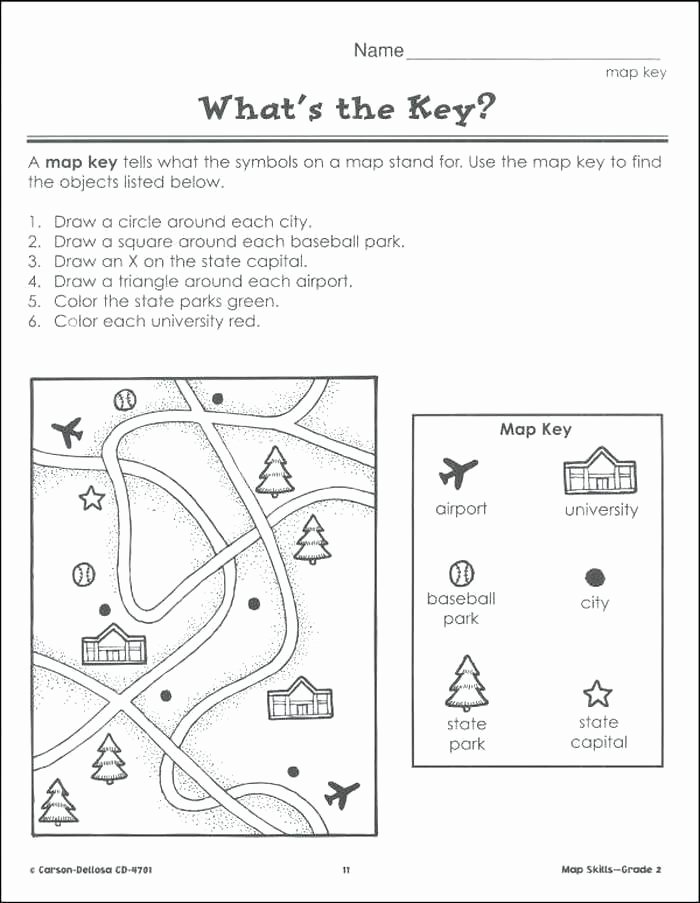 First Grade Map Skills Worksheets Awesome Map Skills Worksheets