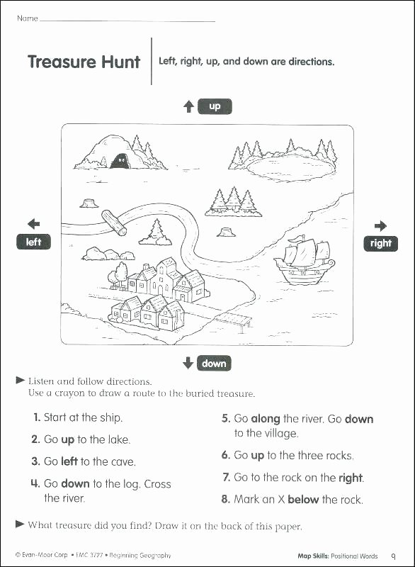 First Grade Map Skills Worksheets Awesome Second Grade Map Skills Worksheets