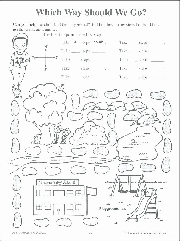 First Grade Map Skills Worksheets Elegant Map Skills Worksheets 3rd Grade