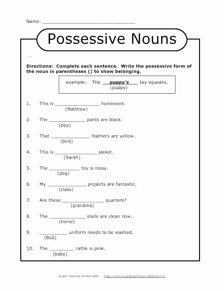 First Grade Pronoun Worksheets Pronouns Worksheets for Grade 3 Grammar topic 9