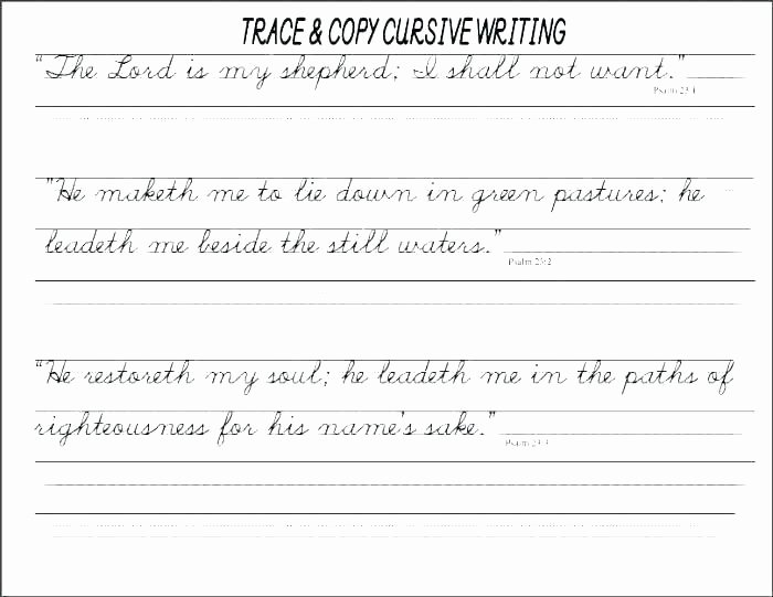 First Grade Sentence Writing Worksheets Handwriting Practice Paper for Adults Cursive First Grade