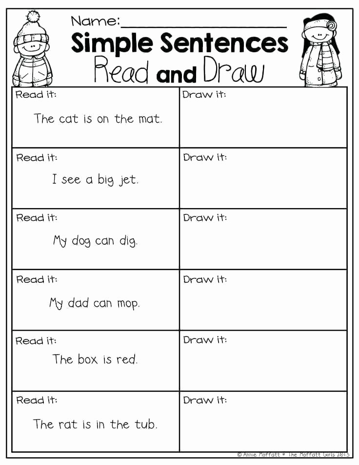 First Grade Sentence Writing Worksheets Sentence Writing Worksheets for First Grade – Katyphotoart
