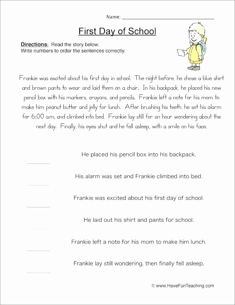First Grade Sequencing Worksheets Grade 3 Learners Module Sequencing events Worksheets for 1