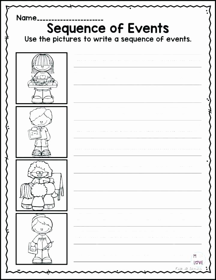 First Grade Sequencing Worksheets Grade Writing Prompts Worksheets A Real Cool Cowboy Sequence