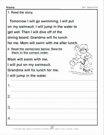 First Grade Sequencing Worksheets Sequencing Worksheets 4th Grade