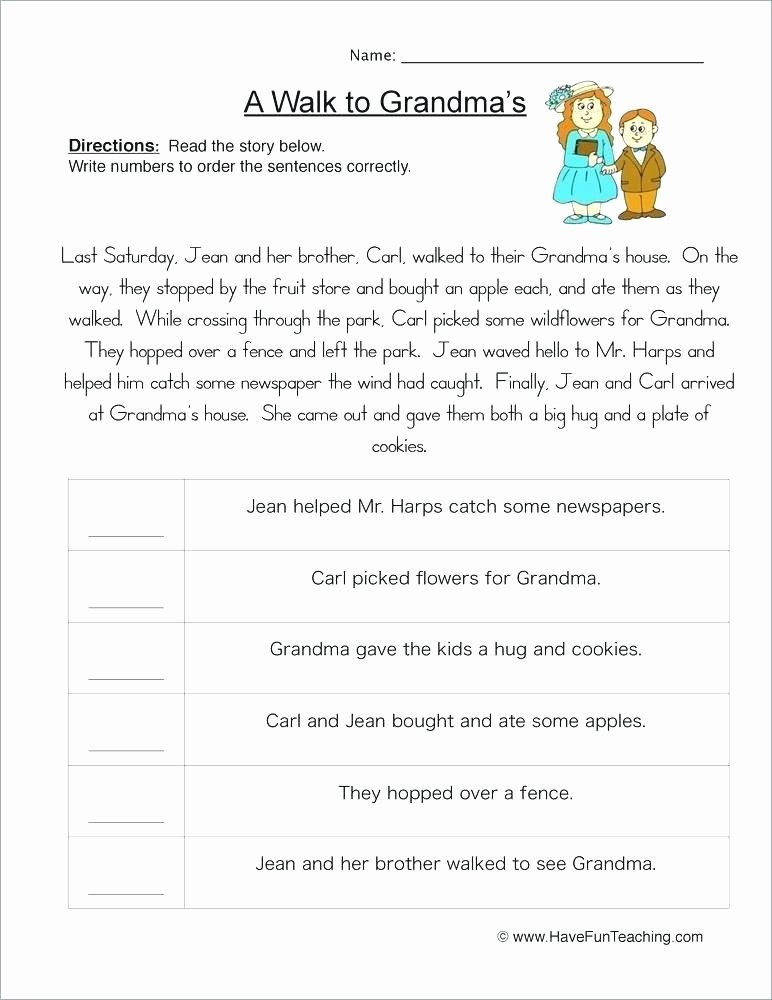 First Grade Sequencing Worksheets Story Sequencing Worksheets Pdf
