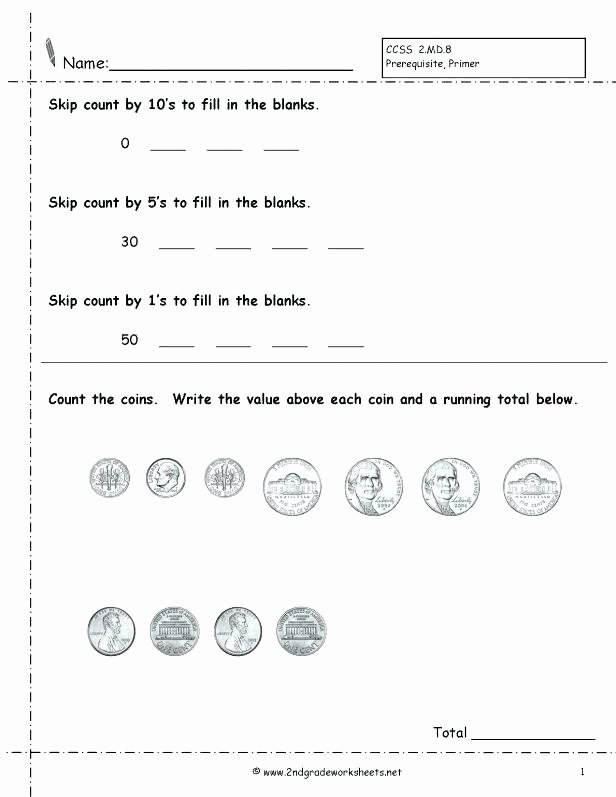 First Grade Skip Counting Worksheets Free Preschool Counting Math Worksheets Wonderful Count Item