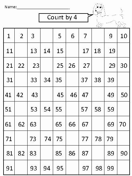 First Grade Skip Counting Worksheets Math Counting Worksheets for Grade 1