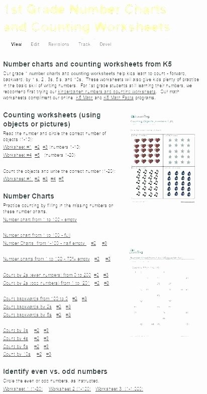 First Grade Skip Counting Worksheets Math Counting Worksheets for Grade 1