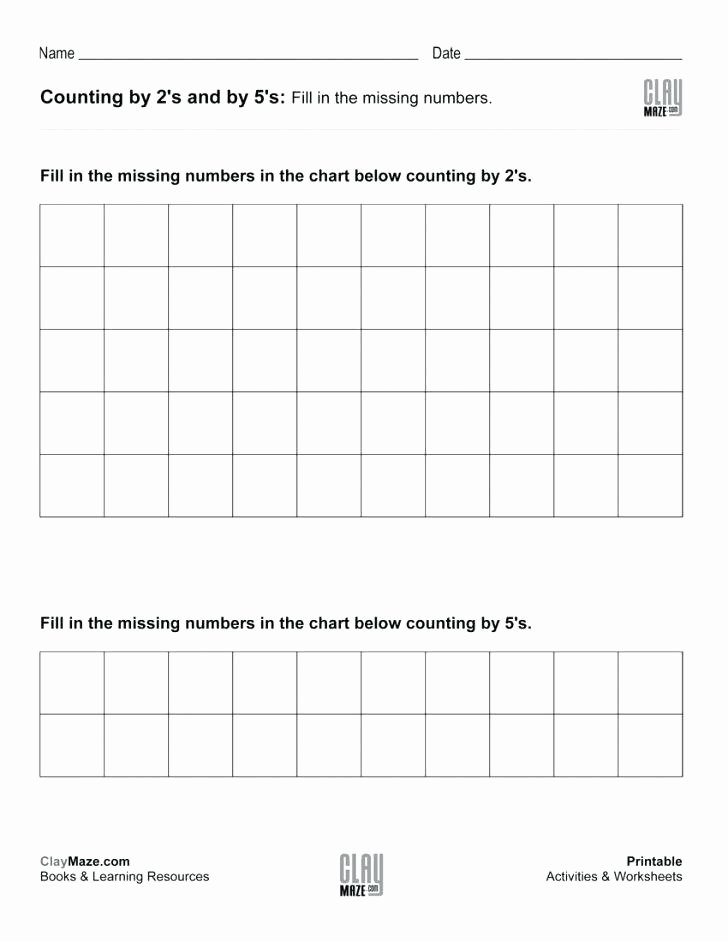 First Grade Skip Counting Worksheets Skip Counting Worksheets – Stnicholaseriecounty