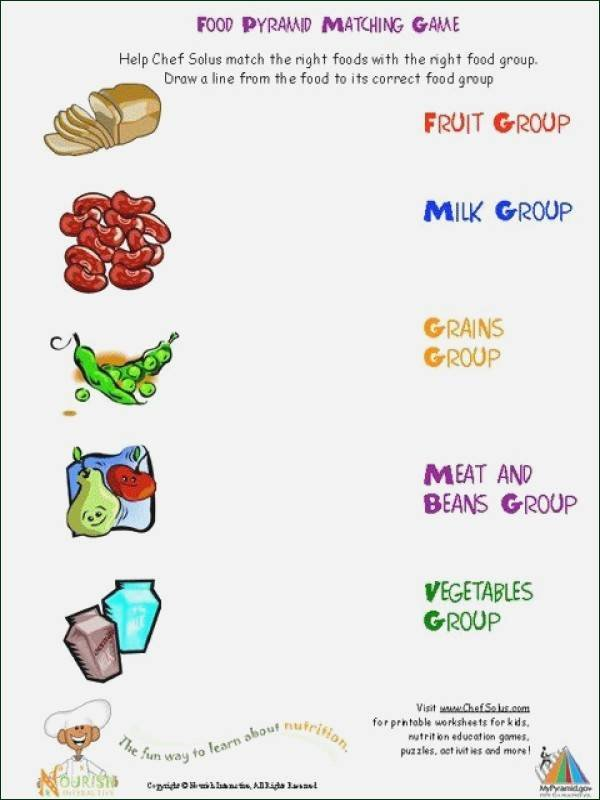 Five Food Groups Worksheets Food Worksheets