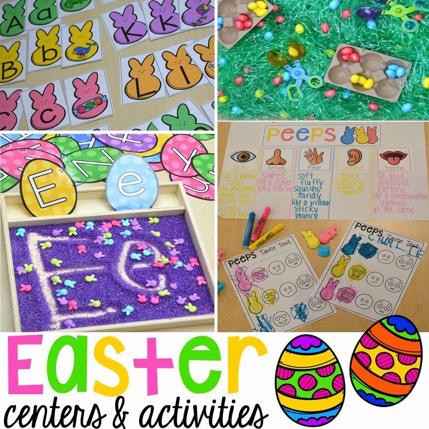 Five Senses Kindergarten Worksheet Easter Centers and Activities for Little Learners Peep