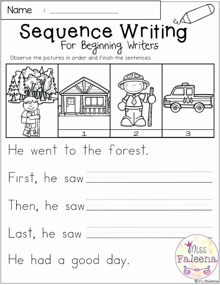 Five Senses Kindergarten Worksheet Free Sequencing Worksheets for Preschoolers Sequence