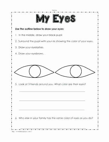 Five Senses Worksheets Kindergarten Your Five Senses Worksheet A Snapshot Image Sensory