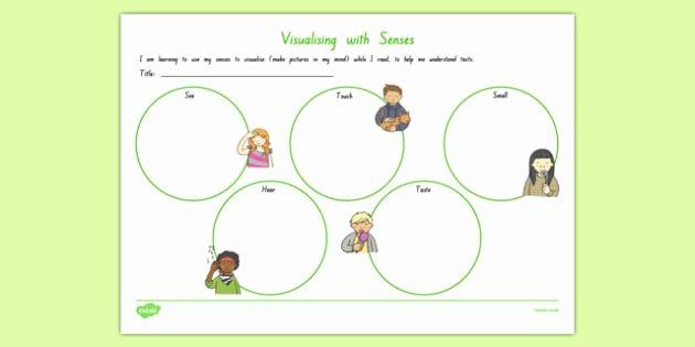 Five Senses Worksheets Preschool Elegant Visualising with All 5 Senses Worksheet Worksheet Worksheet