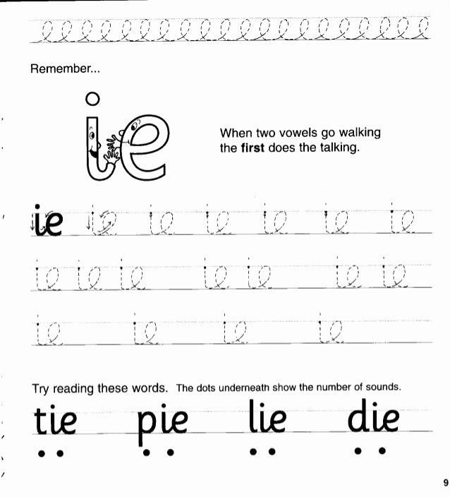 Floss Rule Worksheet Remember when Two Vowels Go Walking the First Does the