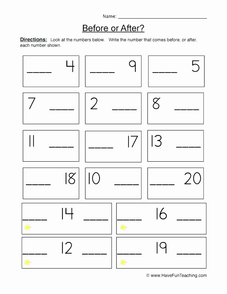 Follow Directions Worksheet Kindergarten Awesome before and after Worksheets Kindergarten