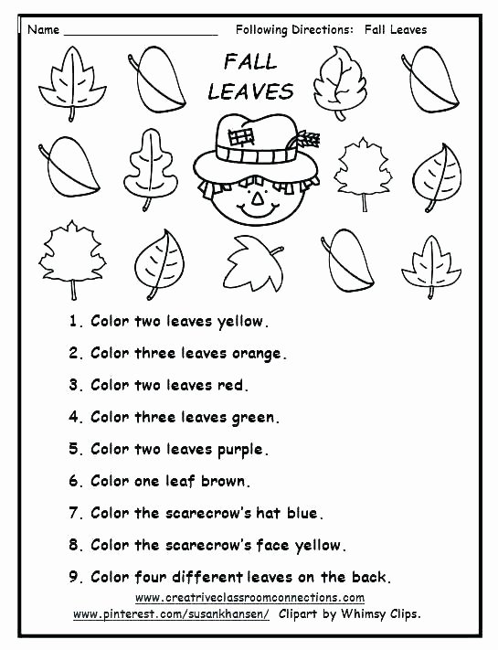 Follow Directions Worksheet Kindergarten Awesome Following Direction Worksheets Teachers Pay Teachers Free