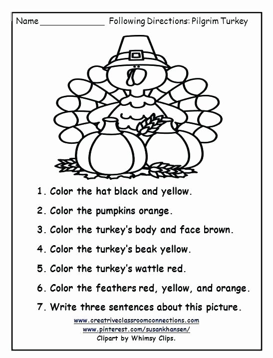 Follow Directions Worksheet Kindergarten Awesome Listening Worksheets for Elementary Students Following