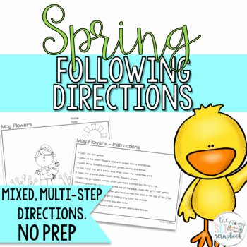 Follow Directions Worksheet Kindergarten Beautiful Following Directions Coloring Worksheets & Teaching