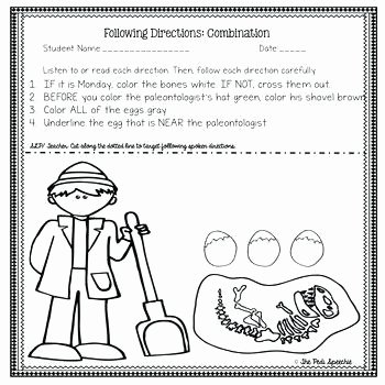 Follow Directions Worksheet Kindergarten Best Of Listening Skills Worksheets