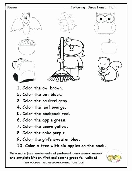 Follow Directions Worksheet Kindergarten Inspirational asking and Giving Directions Worksheet Free Printable