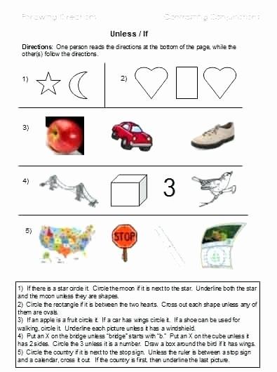Follow Directions Worksheet Kindergarten New Follow Direction Worksheets Last Multi Step Directions Following